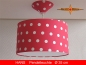 Lamp HANS Ø 35 cm pendant lamp with diffuser and canopy dots