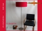 Floor lamp ELISABETH h 155 cm silk lamp in red