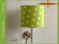 Wall lamp LALE Ø 25 cm dots on green