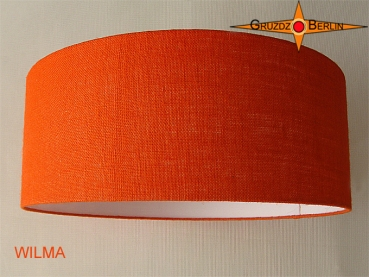 gruzdz berlin leuchten lampenschirme lichtobjekte lampenschirm wilma 50 cm orange jute. Black Bedroom Furniture Sets. Home Design Ideas
