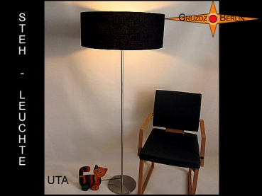Floor lamp UTA h 155 cm classic in black linen