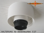 Ceiling suspension for lampshades E27