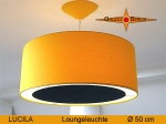 Lounge lamp LUCILA Ø 50 cm, pendant lamp with light edge and canopy