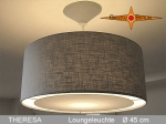 Lamp THERESA Ø 45 cm pendant lamp with light edge and canopy linen