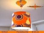 Lamp SONJA D 20cm pendant lamp with diffuser and canopy Retro 70s