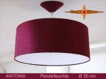 Lounge lamp ANTONIA Ø 50 cm, pendant lamp with diffuser and canopy, silk