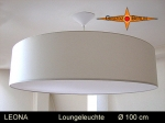 Lounge lamp LEONA Ø100 cm pendant lamp with diffuser and canopy