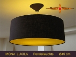 Lamp MONA LUCILA Ø 45 cm, pendant lamp with diffuser and canopy, WOW