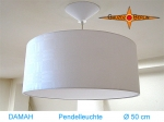 Lounge lamp DAMAH Ø 50 cm pendant lamp with diffuser and canopy damask