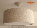 Lounge lamp HELENA Ø 50 cm pendant lamp with diffuser canopy