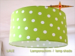 lamp shade LALE Ø 35 cm dots white green