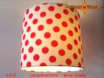 lamp shade LILO Ø 25 cm red dots on white