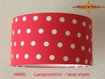 lamp shade HANS Ø 35 cm white dots on red