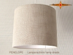 Natural colored lampshade linen PENELOPE d 30 cm
