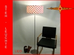 Floor lamp LILO h 155 cm with dots red white