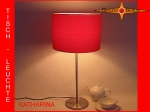 Table lamp KATHARINA Ø 30 cm silk jacquard red
