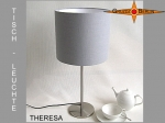 Table lamp THERESA Ø 25 cm soft light grey linen