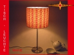 Table lamp MARIE Ø 25 cm stripes retro design 70s
