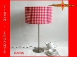 Table lamp KARIN Ø 30 cm Retrodesin red white