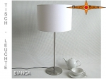 Table lamp BIANCA Ø 30 cm Elegance in white linen