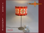 Table lamp HILDA Ø 30 cm 70s pure flower design