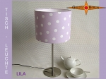 Table lamp LILA Ø 20 cm dots on light purple