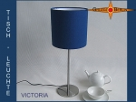 Table lamp VICTORIA Ø 20 cm blue silk