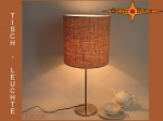 Table lamp HEIDE Ø 25 cm Jute farmers house style