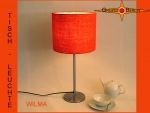 Table lamp WILMA Ø 25 cm orange Jute