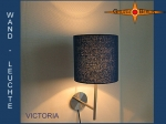Wall lamp VICTORIA Ø 20 cm blue silk bourette