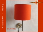 Wall lamp BEATRICE Ø 25 cm sunny orange