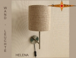 Wall lamp HELENA Ø 20 cm natural linen
