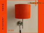 Wall lamp WILMA Ø 20 cm orange jute