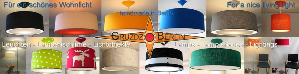 Gruzdz-Berlin: Leuchten, Lampenschirme, Lichtobjekte-Logo
