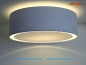 Preview: Blue ceiling lamp CAROLINE Ø45 cm ceiling light  with diffuser