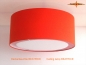 Preview: Orange ceiling lamp of linen BEATRICE Ø60 cm ceiling light with diffuser
