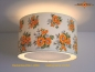Preview: Ceiling lamp made of vintage fabric LUISA Ø50 cm Ceiling light with diffuser