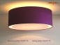 Preview: Purple ceiling lamp VIOLETTA Ø 50 cm Ceiling lamp made of fine silk with diffuser