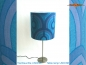 Preview: Blue Vintage table lamp UNDINE and table lamp in Panton style