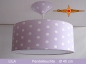 Preview: Lamp LILA Ø 45 cm pendant lamp with light edge and canopy lilac