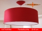 Preview: Lampe aus roter Seide KATHARINA Ø45 cm rote Seidenlampe mit Diffusor