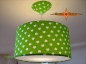 Preview: Lamp NANA Ø40cm, pendant lamp with diffuser and canopy, heart green