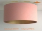 Preview: Ceiling lamp inside gold BARBARA Ø45 cm in apricot colored linen