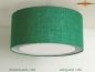 Preview: Green jute ceiling lamp LISA Ø 45 cm