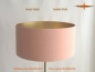 Preview: Floor lamp interior gold BARBARA of salmon-colored linen