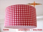 Preview: Offer - Stock: Lampshade red white checkered KARIN Ø30 cm Lamp with heart