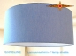 Preview: Lampshade blue CAROLINE Ø35 cm linen lamp blue