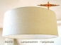 Preview: Lamp shade BEATE Ø 50 cm bourette silk nature beige