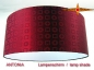 Preview: Lampenschirm bordo Jacquardseide ANTONIA Ø50 cm bordeaux rot