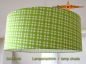 Preview: lamp shade SASCHA Ø 45 cm lime green squared